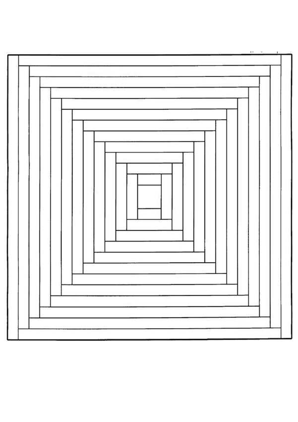 Mandala Labyrinth zum Ausmalen