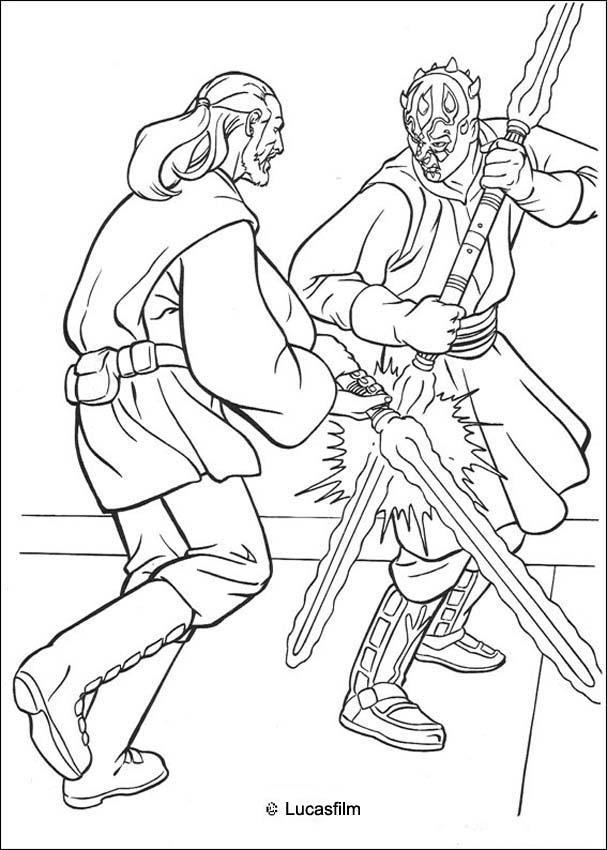Jediritter qui gon jinn duelliert mit darth maul