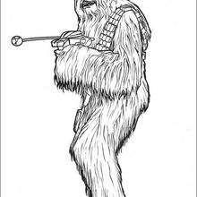 Chewbacca zum Ausmalen