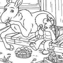 Franklin und Esel zum Ausmalen
