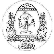 Osterhasen Mandala zum Ausmalen