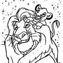 Simba mit seinem Vater