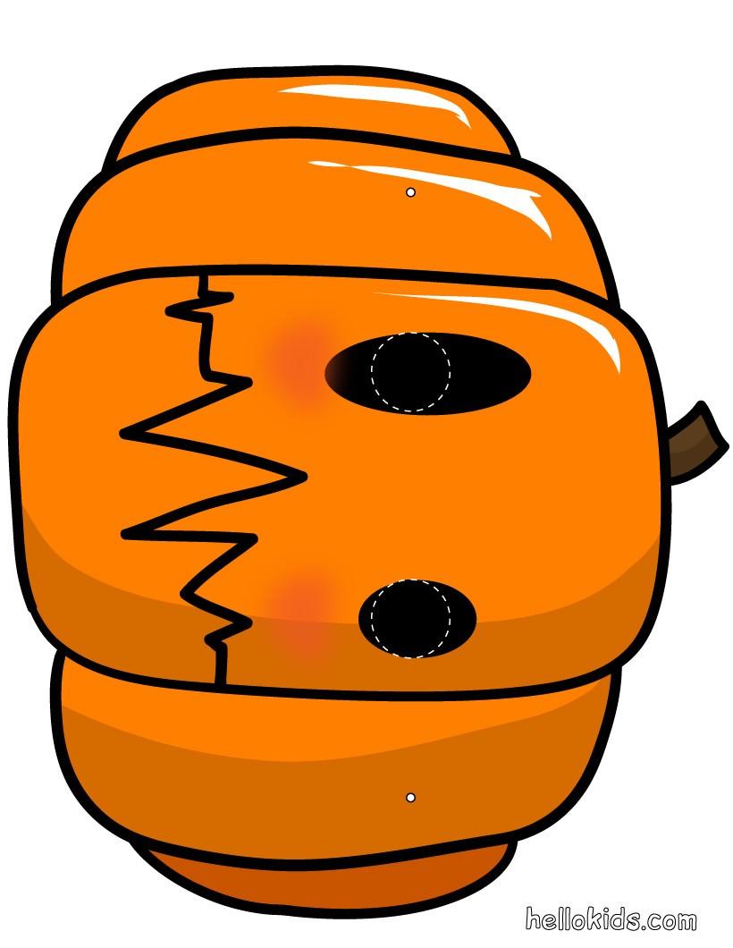 Kürbismaske für Halloween