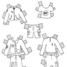 Kleidung für Jungenvorlage