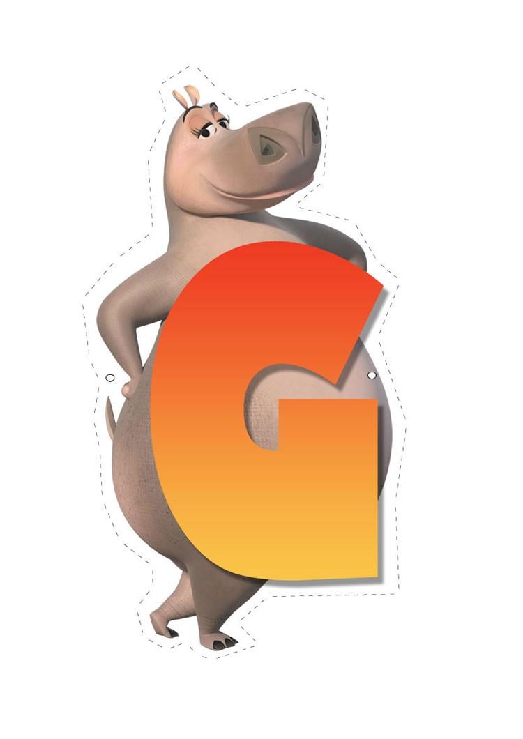 Madagascar 2: Buchstabe G