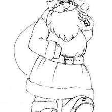 Fröhlicher Weihnachtsmann zum Ausmalen