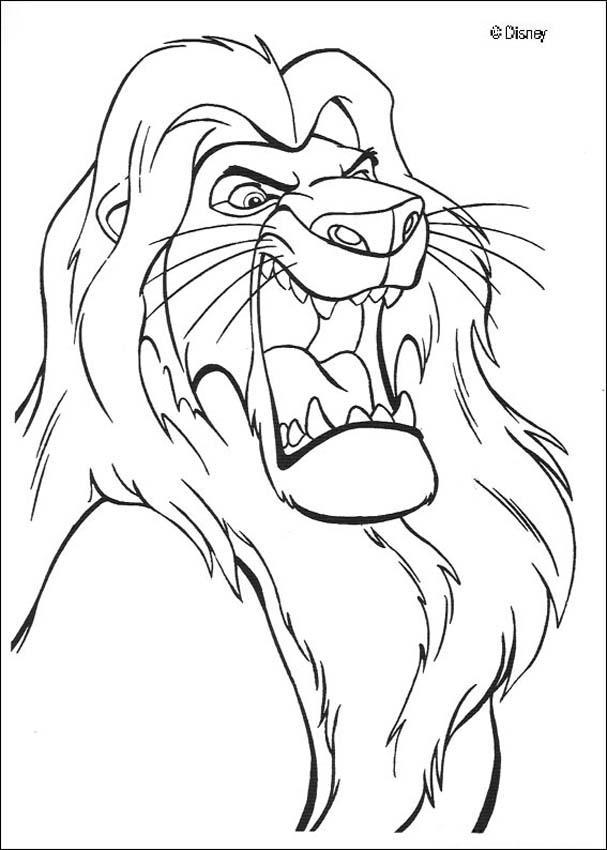 Ausmalbilder König Der Löwen: Der König Der Löwen Zum Ausmalen