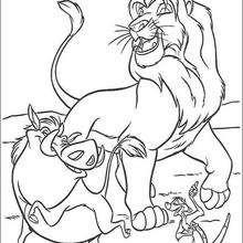 Simba, Timon und Pumbaa glücklich