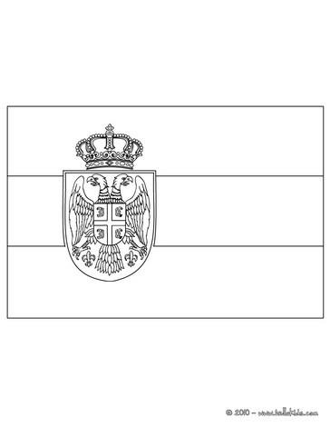 Serbien flagge zum ausmalen zum ausmalen - de.hellokids.com