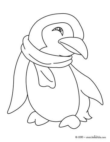 Pinguin zum Ausmalen