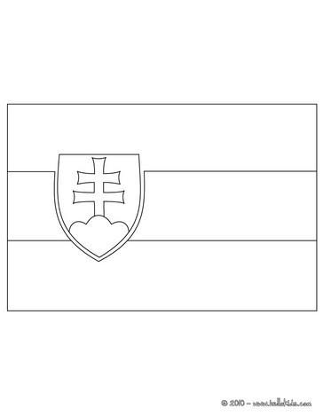 Slovakei flagge zum ausmalen zum ausmalen - Drapeau espagnol a colorier ...