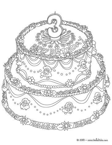 Geburtstagskuchen Zum Ausmalen Ausmalbilder Ausmalbilder