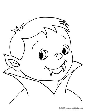 Junges vampirgesicht zum ausmalen zum ausmalen de - Coloriage vampire a imprimer ...