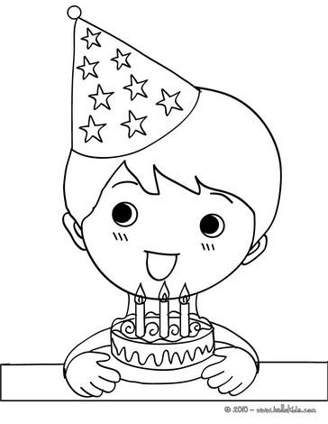 Geburtstagsclown zum ausmalen zum ausmalen - de.hellokids.com