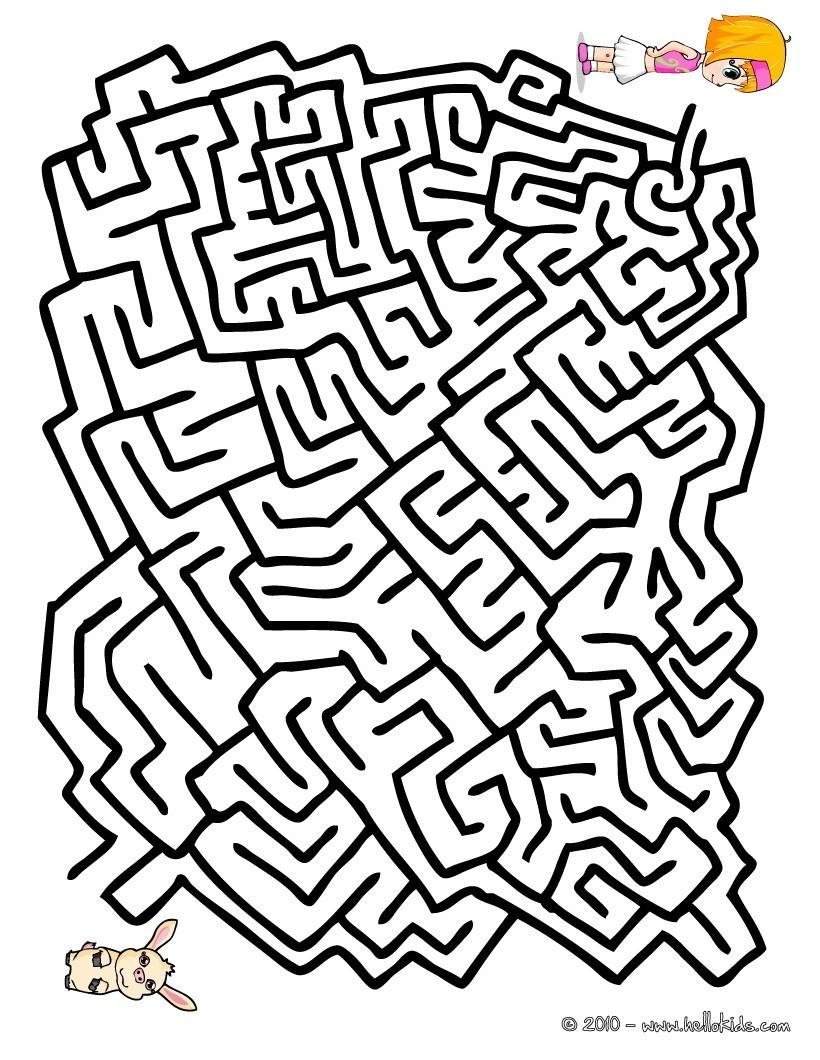 Gemütlich Labyrinth Malvorlagen Zum Ausdrucken Zeitgenössisch ...