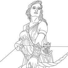 ARTEMIS griechische Jagdgöttin zum Ausmalen