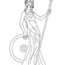 ATHENA griechische Göttin der Weisheit zum Ausmalen