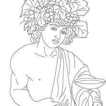 DIONYSOS der griechische Gott des Weins zum Ausmalen