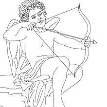 EROS der griechische Gott der Liebe zum Ausmalen