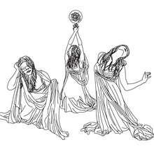 GRAIE die grauenvollen Wesen der griechischen Mythologie zum Ausmalen