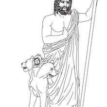 HADES der griechische Gott der Unterwelt zum Ausmalen