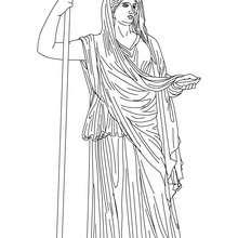 HERA griechische Matronengöttin zum Ausmalen
