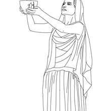 HESTIA griechische Familiengöttin zum Ausmalen
