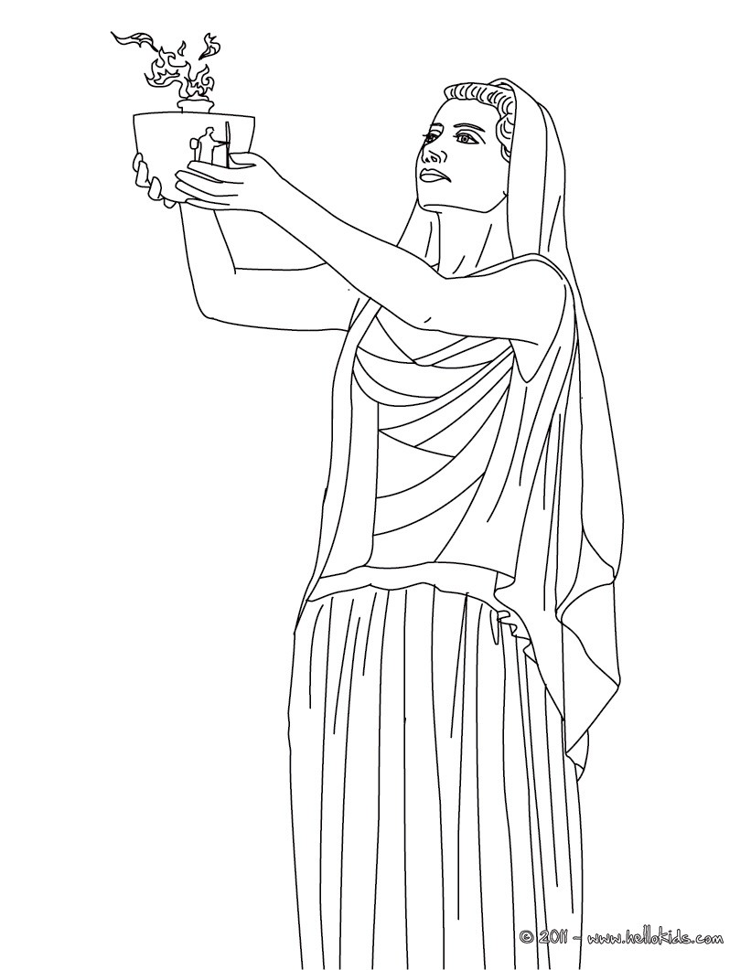 Free Coloring Pages Goddess Artemis
