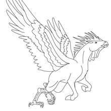 HIPPALECTYRON das fabelhafte Hahn-Pferdewesen zum Ausmalen