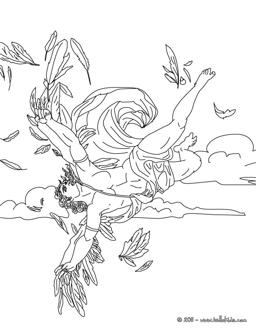 Der ikarus mythos zum ausmalen zum ausmalen for Odysseus coloring pages
