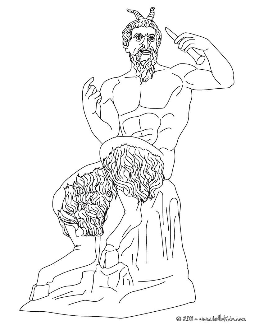 pan der griechische hirtengott zum ausmalen zum ausmalen