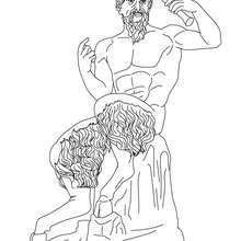 PAN der griechische Hirtengott zum Ausmalen