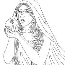 PERSEPHONE griechische Fruchtbarkeitsgöttin zum Ausmalen