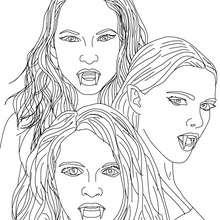 Die drei mythischen EMPUSA Vampire zum Ausmalen