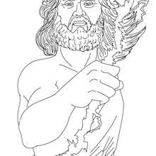 ZEUS dder griechische König der Götter zum Ausmalen