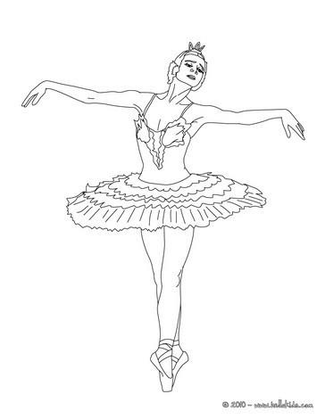 Ballerina Tanzt Eine Vorstellung Zum Ausmalen Zum Ausmalen De