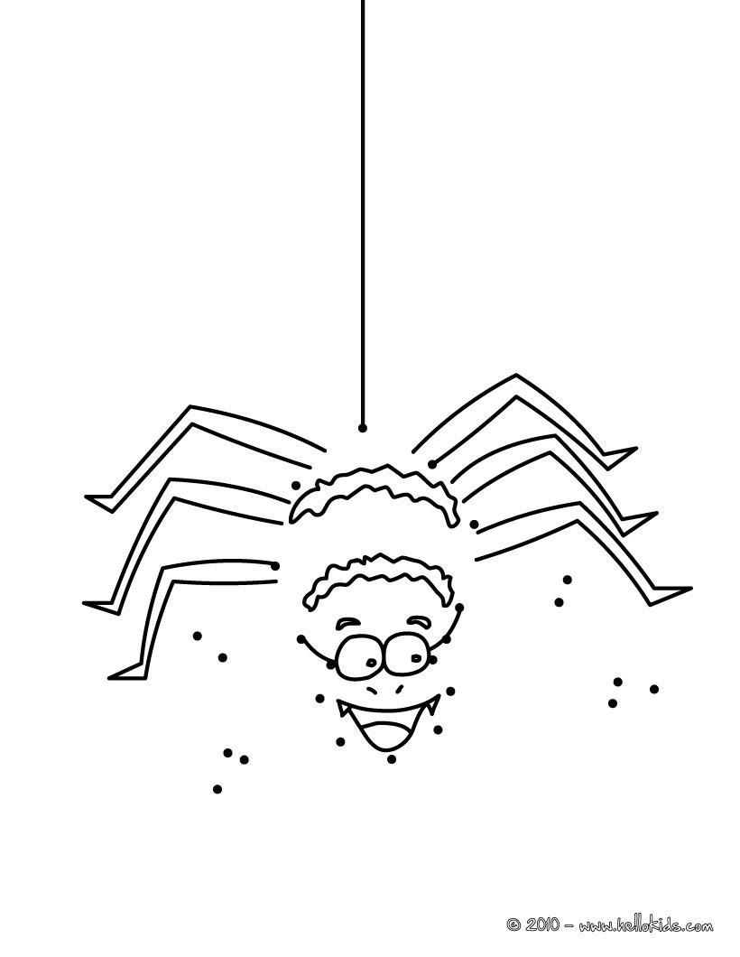 Ausmalbilder Halloween Spinne : Halloween Spinne Punkte Verbinden Zum Ausmalen De Hellokids Com