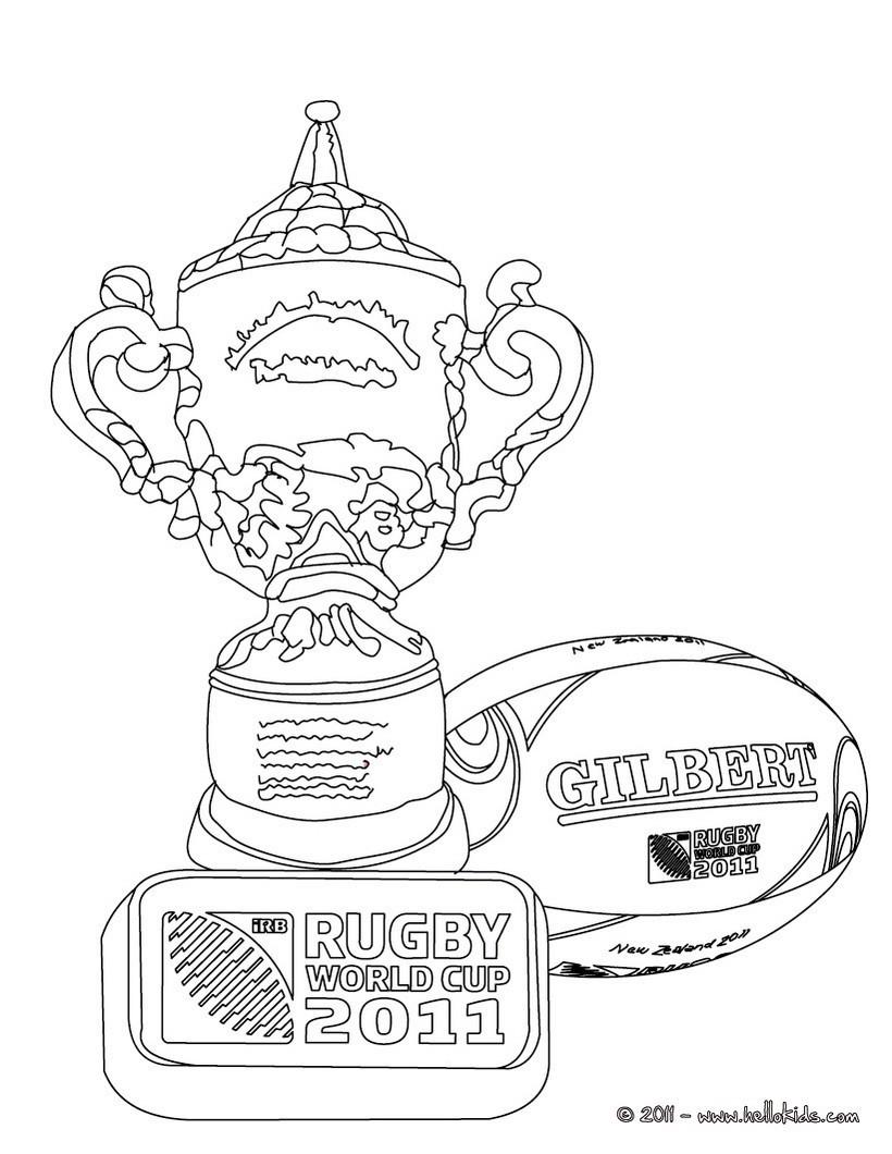 Rugby Weltmeisterschaft POKAL zum Ausmalen