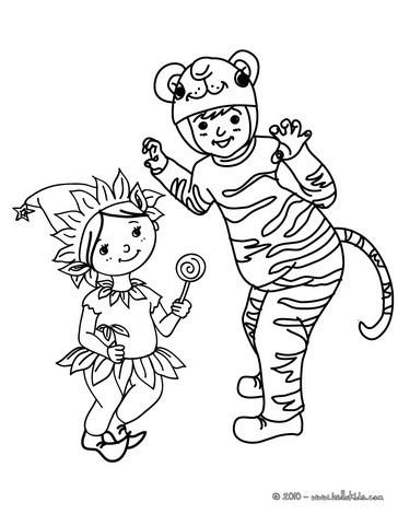 Tiger und wichtel kinderkost me zum ausmalen zum ausmalen - Dessins carnaval ...