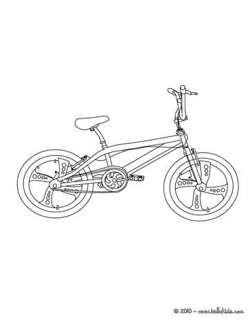 Mountainbike bild zum ausmalen zum ausmalen - de.hellokids.com