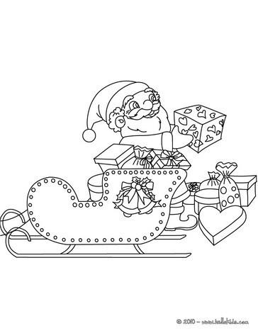 Weihnachtsmannschlitten Mit Rentier Zum Ausmalen Zum Ausmalen De