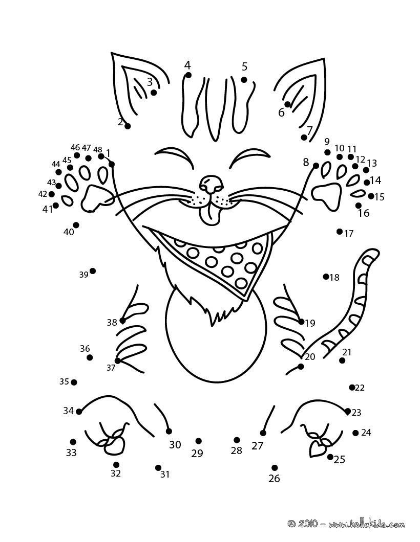 Lustige Katzen Ausmalbilder : Lustige Katze Punkte Verbinden Zum Ausmalen De Hellokids Com