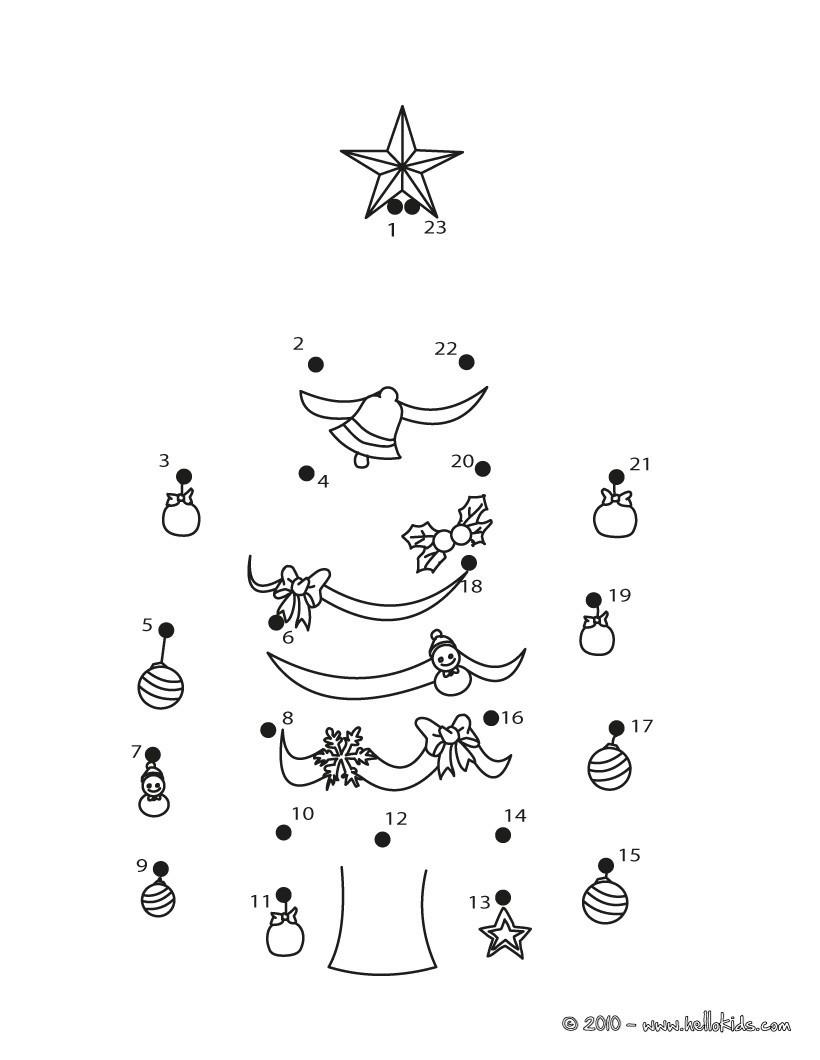 WEIHNACHTEN Punkte verbinden - 24 Weihnachten Punkte-verbinden ...