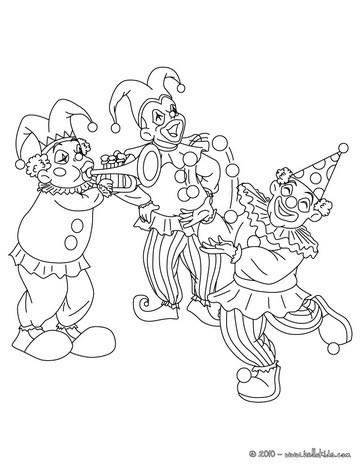 Trauriger clown zum ausmalen zum ausmalen - de.hellokids.com