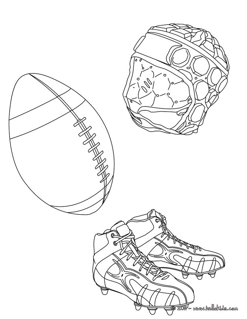 Rugbyausrüstung Zum Ausmalen Ausmalbilder Ausmalbilder