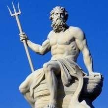 POSEIDON griechischer Gott der Meere Kinderpuzzle