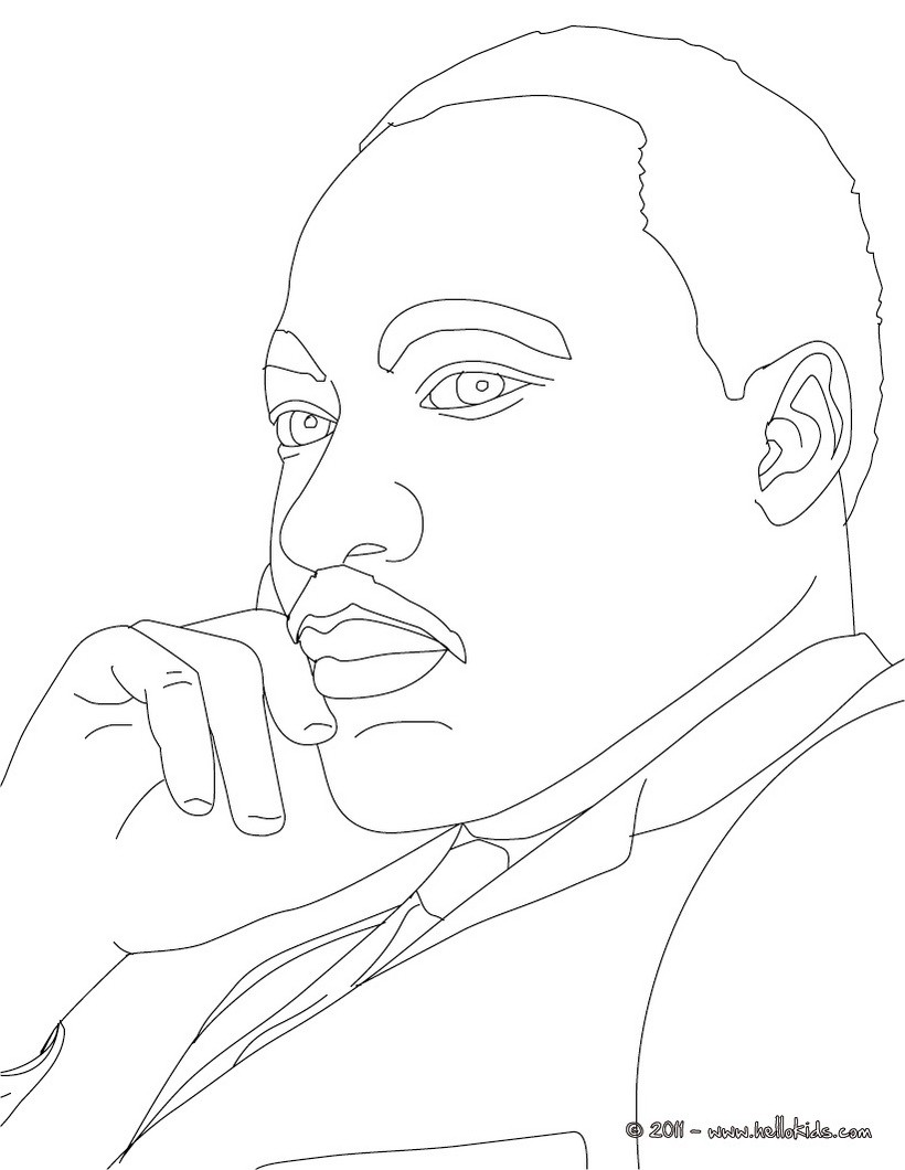 ... Martin Luther King Coloring Pages. on martin luther king coloring page