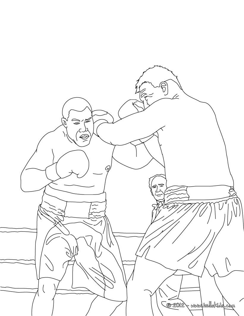 Boxkampf zum ausmalen zum ausmalen for Boxing coloring pages