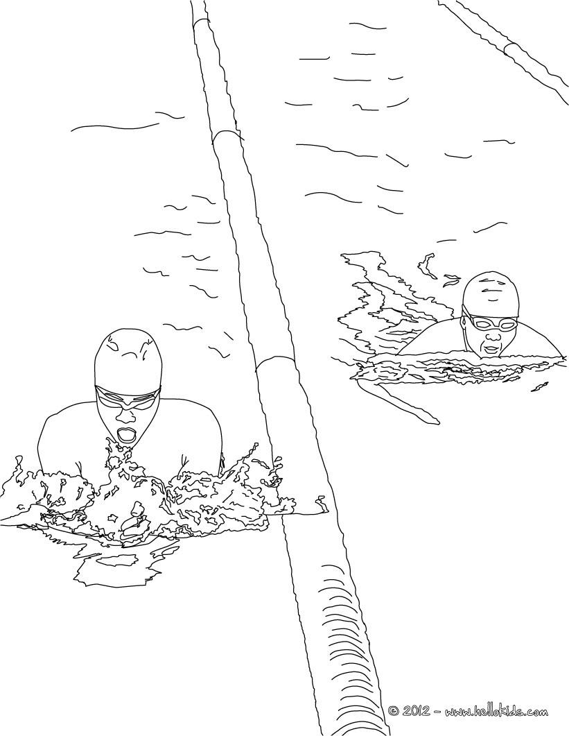 Freistil schwimmen zum ausmalen zum ausmalen de - Natation dessin ...