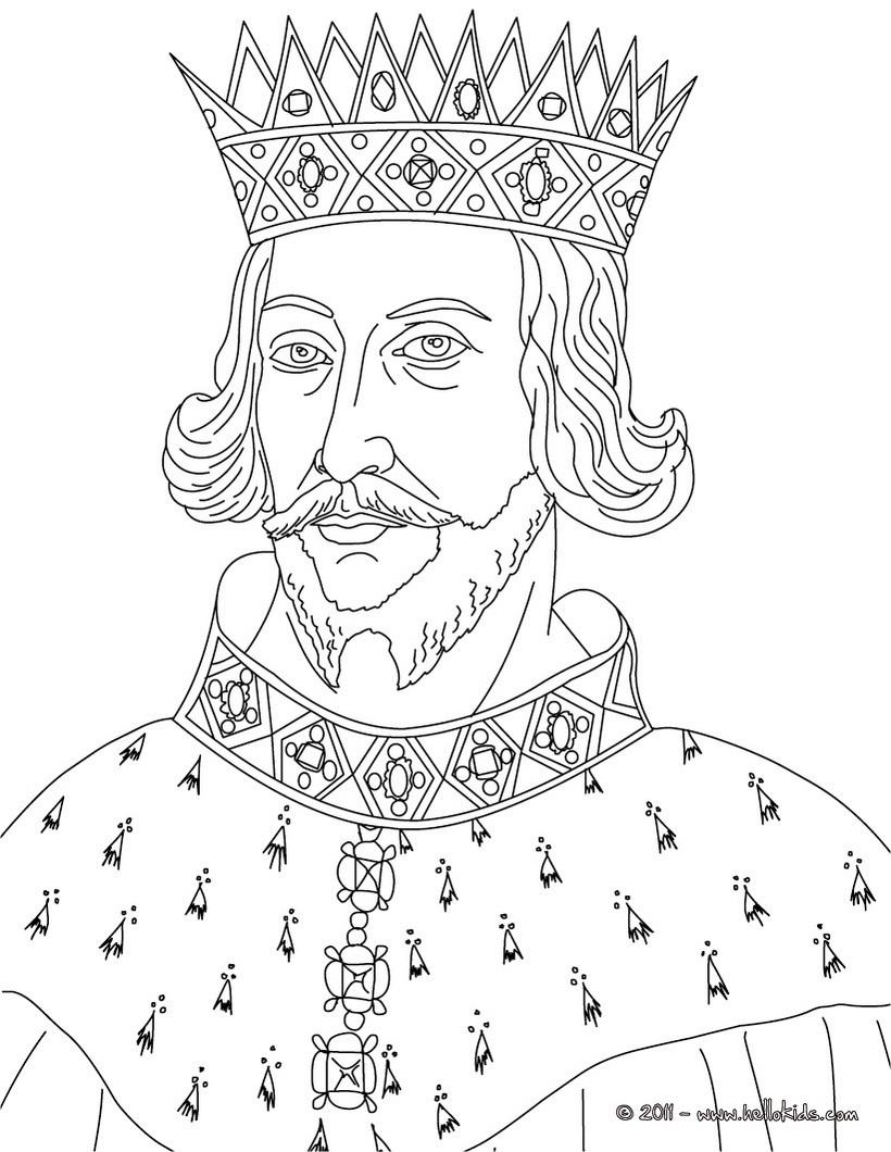 king portrait coloring pages - photo#1